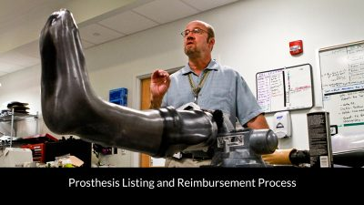 Prosthesis listing and reimbursement process