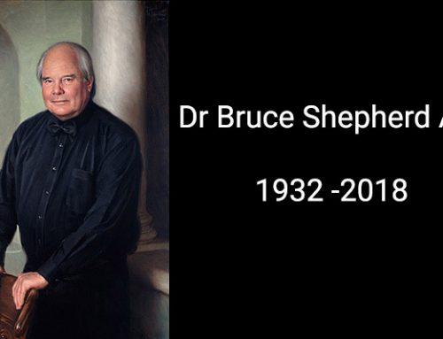 Vale Dr Bruce Shepherd AM