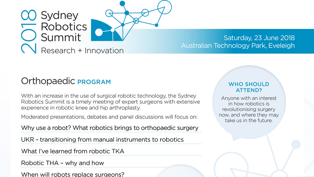 Sydney Robotics Summit 2018